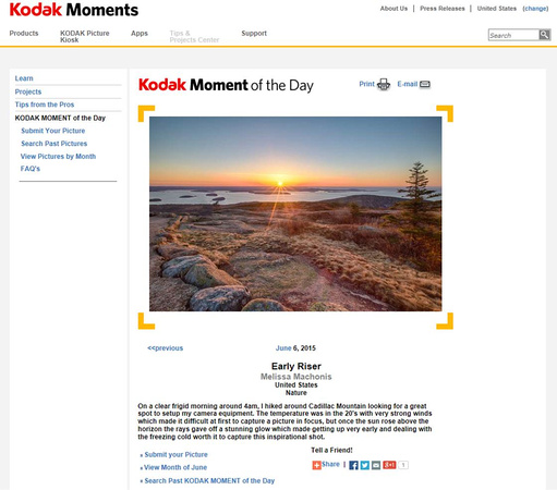 Kodak Photo of the Day