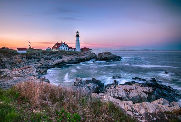 Sunset at Portland Head Light
